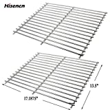 Hisencn Stainless Steel Solid Rod Cooking Grates Replacement Parts for Sunbeam, Grill Master 720-0697, Nexgrill 720-0697E, Uniflame GBC091W Gas Grill Models, Grill Cooking Grid Set of 2, 17 3/16'