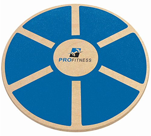 ProFitness Wooden Balance Board (15.5-inch by 3.1-inch) - Exercise, Fitness and Physical Therapy - Non-Slip Safety Top - Tone Muscles, Strengthen Core and Injury Rehab