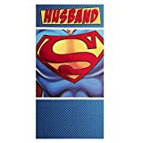 Hallmark Medium Slim Husband Contemporary Superman Foil Birthday Card