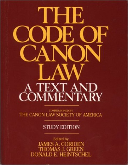 The Code of Canon Law a Text and Commentary, Study Edition: Coriden, James  A.: 9780809128372: Amazon.com: Books