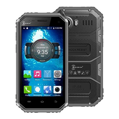 """Kenxinda Proofings W6 4G Smartphone 4.5"""" Android 5.1 IP68 Waterproof Shockproof Dustproof Dual Cam (Gray)"""