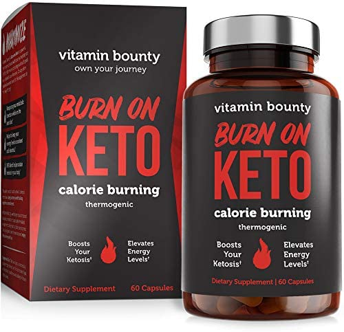 Burn on Keto - Keto Pills with BHB Beta Hydroxybutyrate Exogenous Ketones and Green Tea Extract 3