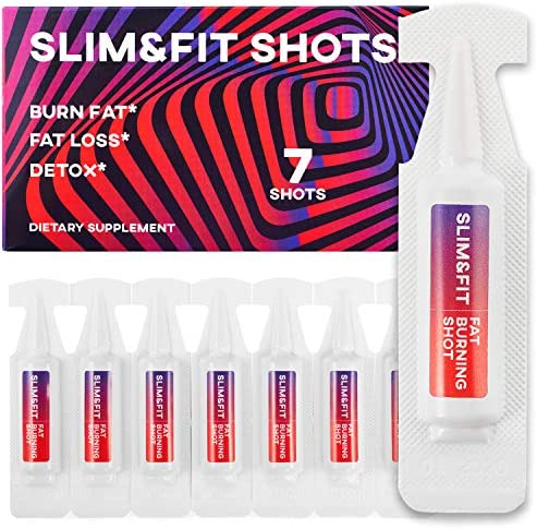 Slim&Fit Shots - The Only Working Weight Loss Pills for Women - Appetite Suppressant, Fat Burner and Metabolism Booster with L-Arginine, Garcinia Cambogia and Guarana - 1 Week Supply 1