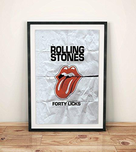 Vintage rolling stones poster naked