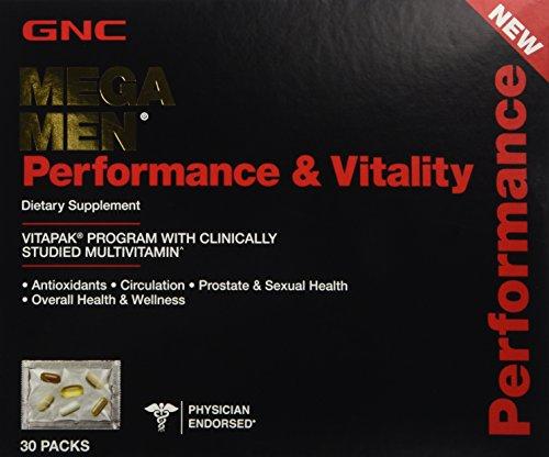 GNC Mega Men Performance & Vitality Vitapak Program 30 Paks - New