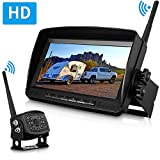DohonesBest Digital Wireless Backup Camera High-Speed Observation System for Car/Pickup/RV/Truck/Trailer/Camper/5th Wheel with 7'HD Monitor IP69K Waterproof Night Vision Continuous/Reverse Use