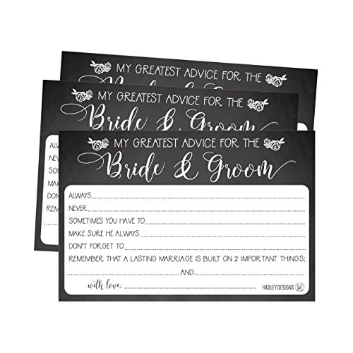 50 4x6 rustic chalk wedding advice well wishes for the bride and