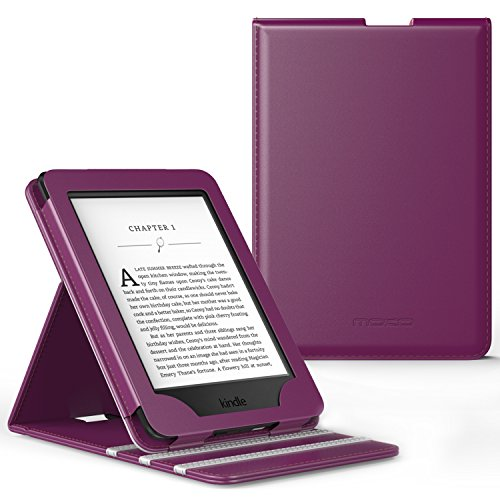 MoKo Case for Kindle Paperwhite, Premium Vertical Flip Cover with Auto Wake/Sleep Fits All Paperwhite Generations Prior to 2018 (Will not fit All-New Paperwhite 10th Generation), PURPLE