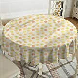 Tim1Beve Music Spill-Proof Table Cover Fifties Radio Pop Vintage High-end Durable Creative Home D36 INCH