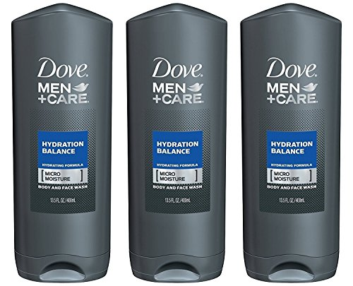 Dove Men + Care Body & Face Wash - Hydration Balance - Net Wt. 13.5 FL OZ (400 mL) Each - Pack of 3