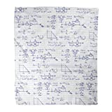 Golee Throw Blanket Physics Electronic Engineering Mathematics Equation and Calculations Endless Scientific Technology 50x60 Inches Warm Fuzzy Soft Blanket for Bed Sofa