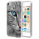 Matcase for I pod Touch 6 Case I pod Touch 5 Case - Cat Crystal Clear Transparent Anti Scratch Resistant Shock Absorption Ultra Slim Fit Protective with TPU Bumper Hybrid Designer Case
