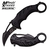 MTech XTreme Tactical Karambit Knife Combat Spring Assisted Open Serrated 833BK
