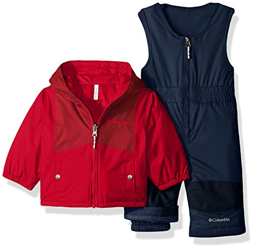 Columbia Baby Girls' Double Flake Set, Mountain Red, Beet, 12-18 Months
