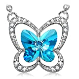 LADY COLOUR gifts for women butterfly necklace jewelry for women swarovski necklaces for women jewelry birthday gifts for women grandma Her Girls gifts for mom from daughter Black Friday cyber monday