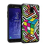 Capsule Case Compatible with Samsung Galaxy J7 2018 (J737), J7 Star, J7 Aero, J7 Refine, J7V 2nd Gen, J7 Crown, J7 Eon [Hybrid Dual Layer Silm Defender Case Black] - (Rubiks Cube)