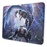 Monster Hunter World Iceborne Ice Dragon Gaming Mouse Pad Large 11.81 X 9.84 X 0.12 Inches Stitched Edges Waterproof Pixel-Perfect Accuracy Optimized for All Computer Mouse Sensitivity and Sensors