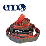 ENO - Eagles Nest Outfitters Atlas Chroma Hammock Straps, Suspension System, Red/Charcoal