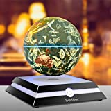 Soditer LED Luminous Levitating Globe 6inch Floating Globes Sitting Room Office Desktop Decoration Creativity Holiday (Constellation Version)