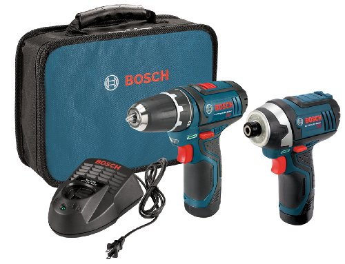 Bosch 12-Volt 2-Tool Combo Kit (Drill/Driver and Impact Driver) CLPK22-120 with two 12-Volt Lithium-Ion Batteries, 12V Charger and Carrying Case