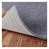 Non Slip Pad Rug Grippers - Square 4x4 Feet Double Layers Area Carpet Mat Tap, Provides Protection and Cushioning for Hardwood or Tile Floors