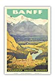Pacifica Island Art - Banff, Canada - Rockies - Canadian Pacific Railway - Vintage Railroad Travel Poster c.1925 - Master Art Print - 13in x 19in