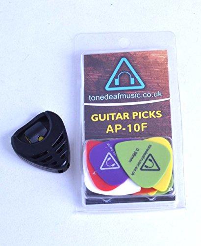 Tone-Deaf-Music-Guitar-PicksPlectrums-with-Pick-Holder-Pack-of-10