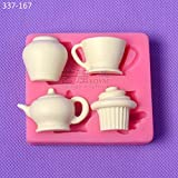 1 piece 2016 new arrival Russia plaster teapot shaped moldgumpaste teapot moldcrafts mould
