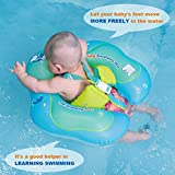 Free Swimming Baby Inflatable Baby Swimming Float Ring Children Waist Float Ring Inflatable Floats Pool Toys Swimming Pool Accessories for The Age of 3-36 Months(Blue, S)
