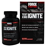 Test X180 Ignite Free Testosterone Booster to Increase Sex Drive & Libido, Burn Fat, Build Lean Muscle, Improve Performance, Force Factor, 120 Count