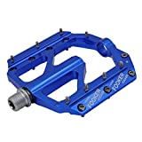 "FOOKER MTB Bike Pedals Mountain Non-Slip Bike Pedals Platform Bicycle Flat Alloy Pedals 9/16"" 3 Bearings for Road BMX MTB Fixie Bikes"