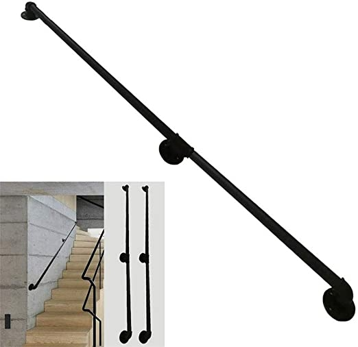 Amazon Com Ayanx Staircases Railing Stair Handrails For Disabled | Outside Handrails For The Elderly | Foshan Demose | Industrial Handrail | Metal Stair Handrail | Front Porch | Wrought Iron
