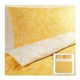 Ikea 3 Piece King Duvet Cover Set Akertistel Yellow