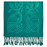 Patrick Francis Pashmina Scarf Book of Kells Design from Ireland Green