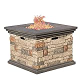 Great Deal Furniture | Crawford | Outdoor Square Propane...