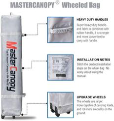 MASTERCANOPY-Pop-up-Canopy-Tent-Commercial-Instant-Canopy-with-Wheeled-BagCanopy-Sandbags-x4Tent-Stakesx4-8x8Khaki