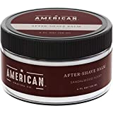 American Shaving After Shave Balm For Men (4oz) - Sandalwood Barbershop Scent - 100% Natural Moisturizing Aftershave Lotion - Best Aftershave For Men to Soothe Dry Sensitive Skin Post Shave