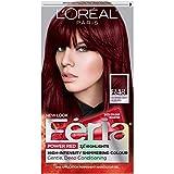 L'Oréal Paris Feria Multi-Faceted Shimmering Permanent Hair Color, R48 Red Velvet (Intense Deep Auburn), 1 kit Hair Dye