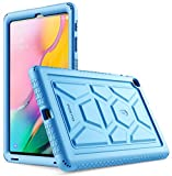 Galaxy Tab A 10.1 Case, Model SM-T510/T515 2019 Release, Poetic Heavy Duty Shockproof Kids Friendly Silicone Case Cover, TurtleSkin Series, for Samsung Galaxy Tab A Tablet 10.1 Inch (2019), Blue