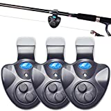 MarsGlider YOLO Electronic Fishing Alarms Bite Alarms for Fish with LED Lights Sound Alert (Pack of 3)