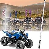 AddSafety 6FT White LED Whips Light UTV Whips LED Antenna Light For Off- Road Vehicle ATV UTV RZR Jeep Trucks Dunes