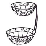 Zenware Steel Fruit Basket Stand Bowl Server – 2-Tier