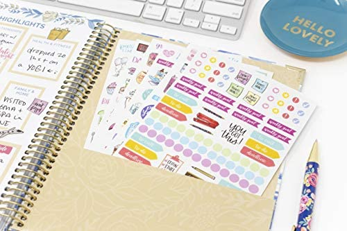 bloom daily planners New Classic Planner Sticker Sheets - Variety Sticker Pack - 417 Stickers Per Pack! 9
