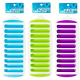 Thermo Tank Ice Stick Tray - Easy Ice Cube Trays for Water Bottles - Set of 3 Trays, 10 Sticks (3, Mint Blue, Lime Green, Purple)