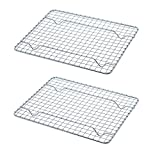 Goson Kitchen Stainless Steel Heavy Duty Metal Wire Cooling, Cooking, Baking Rack For Baking Sheet, Oven Safe up to 575F, Dishwasher Safe Rust Free   8'x10'; SET OF 2