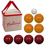 Premium Regulation Size Budweiser Bocce Ball Set - Includes Easy Carry Case!