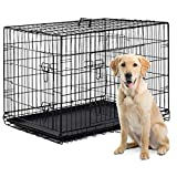 BestPet 42' Pet Folding Dog Cat Crate Cage Kennel w/ABS Tray LC