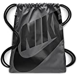 Nike Heritage Gym Sack Bag, Dark Grey Black, One Size