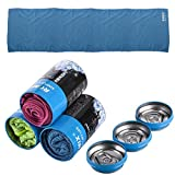 ROMIX Ice Evaporative Sports Cooling Towel Blue Enduring Reusable Camping Hiking Gym Exercise Workout Breathable Cool 1247inches