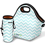 Kaptron Lunch Bag, Thick insulated Lunch Tote Lunch Box Bag with Shoulder Straps and Bottle Holder/Cover for adults, women, girls, school children - Suitable for Travel, Picnic, Office (Small)
